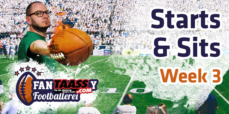 Fantasy Football – die Footballerei Starts & Sits Week 3