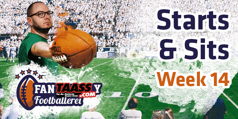 Fantasy Football – die Footballerei Starts & Sits Week 14