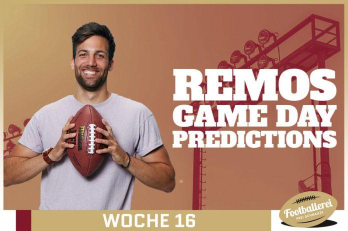 Fantasy Super Bowl - Remos NFL Week 16 Predictions